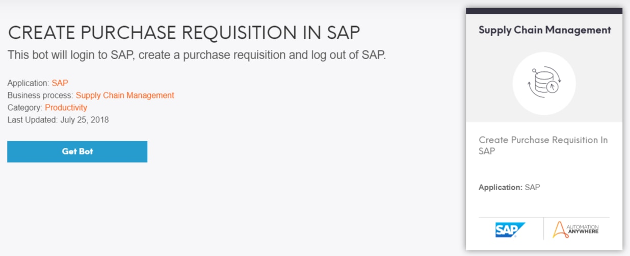 Create Purchase Requisitions in SAP