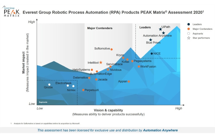 Everest Group RPA Peak Matrix 2020