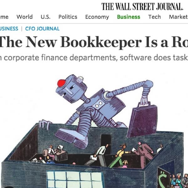 The Wall Street Journal: The New Bookkeeper is a Robot